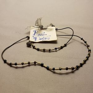 Silver/Blues/Deep Ruby Red Necklace/Bracelet Set